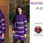 DIY Vestido elegante a crochet