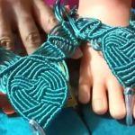 Como hacer sandalias con nudos de macramé