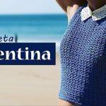 Top Camiseta Valentina tejido a crochet