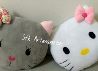 Cojin Hello Kitty con moldes