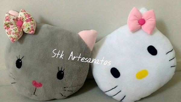 Cojín gatita Hello Kitty con moldes