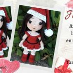 Muñeca amigurumi navideña Julietta