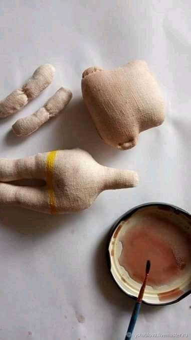 DIY Mini muñeca de tela cuerpo y cabeza