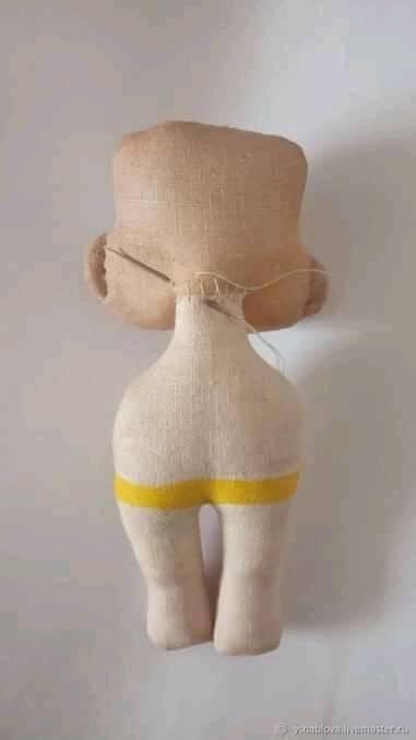 DIY Mini muñeca de tela coser cuerpo y cabeza