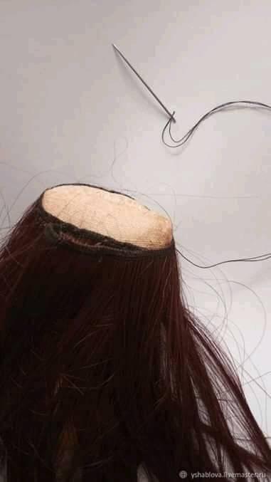 DIY Mini muñeca de tela coser pelo