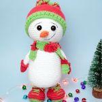 Muñeco de nieve amigurumi paso a paso