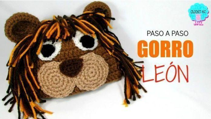 Gorro León tejido a crochet paso a paso