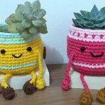 Macetero tejido a crochet paso a paso