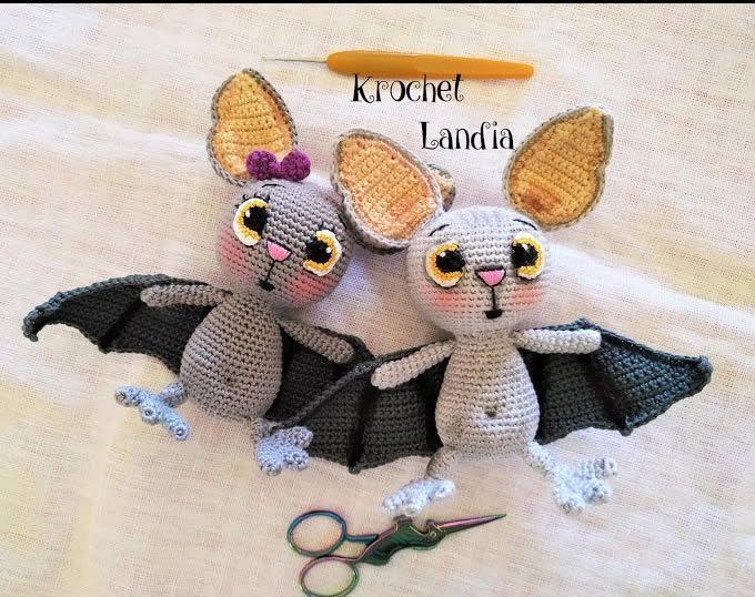 Murciélago amigurumi Miko con patrón