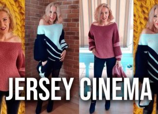 Jersey cinema tejido a punto