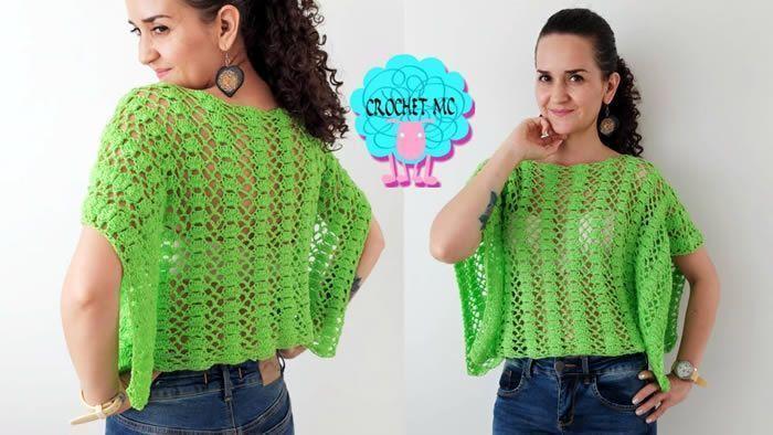 Blusa calada a crochet en todas las tallas