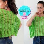 Blusa calada a crochet todas las tallas