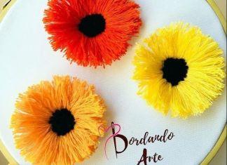 DIY Bordar flores a mano paso a paso
