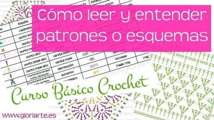 Curso leer patrones y esquemas a crochet
