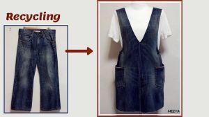 Reciclar pantalón Jeans y convertir en Pichi