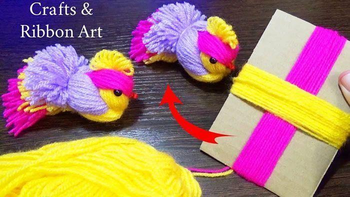 Pollitos de lana paso a paso fácil de hacer