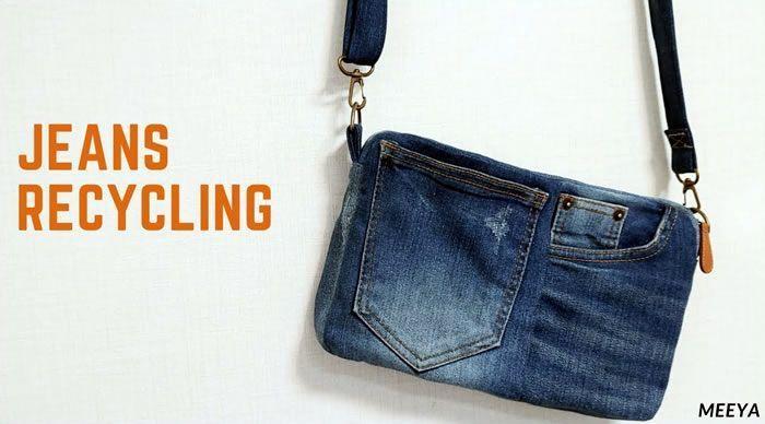 Bolso bandolera reciclando unos jeans