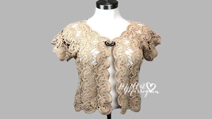Bolero crochet extra grande DIY paso a paso
