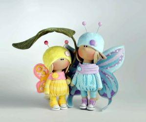 Muñecas rusas mariposas con patrones