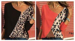 Blusa asimétrica patchwork con patrones