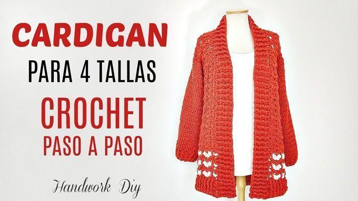 Cárdigan a crochet DIY paso a paso