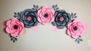 Flores de papel para decorar DIY paso a paso