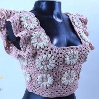 DIY Top crochet GRANNY Square