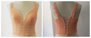 DIY Crop top crochet paso a paso