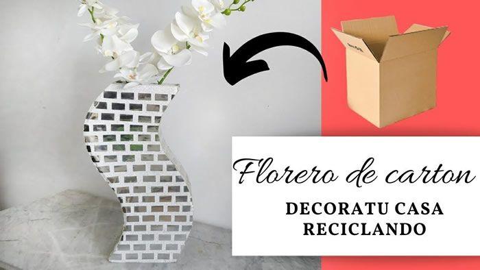 DIY florero de cartón paso a paso