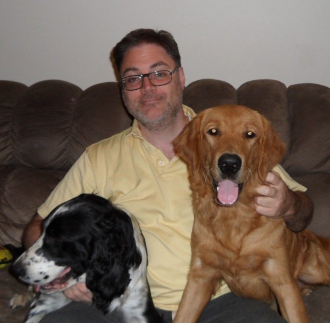 Pat and his dogs.