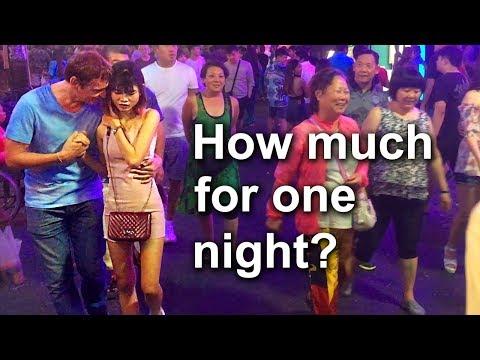 Pattaya, Walking Boulevard. Nightlife scenes. A Inch-Inch bars and freelancers Thai ladies