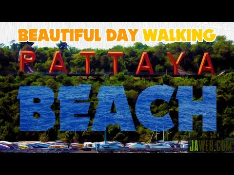 Sleek Day Walking Pattaya Beach Thailand