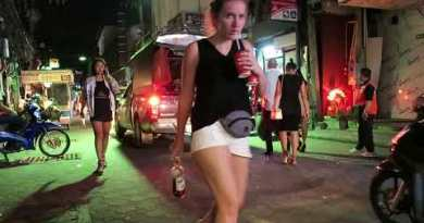 Pattaya Walking Highway after Nighttime