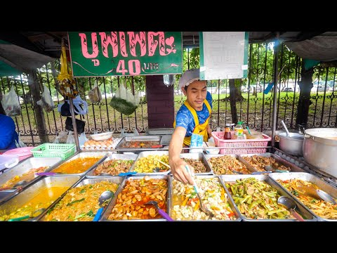 $1.29 Buffet – ALL YOU CAN EAT Thai Avenue Food in Bangkok, Thailand!