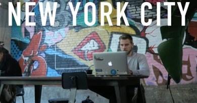 NOMADS IN NEW YORK CITY! (Outsite Brooklyn)   DIGITAL NOMAD VLOG 33