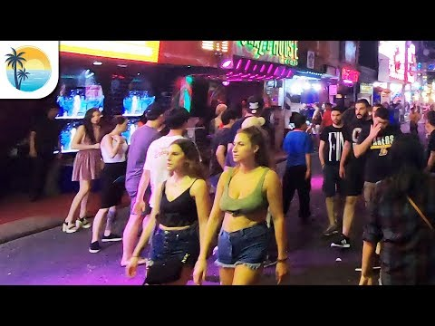Walking Avenue (4K) Walkthrough – Pattaya Nightlife