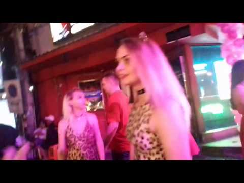 Pattaya,  Strolling Avenue After Nighttime Bars, Girls and Drama!!! 2019