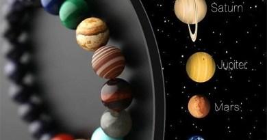 Natural Crystal Stone Beads Bracelet Universe Eight Plants Galaxy Solar System Bracelets for Men or Women Dropship