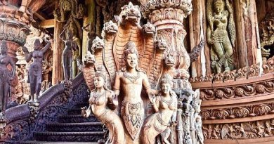 "Unbelievable Temple ~ ""Sanctuary of Truth"" ~ Pattaya Thailand ~ Obedient Sculptures"
