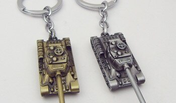 Game World of Tanks Keychain 5cm Alloy Metal Tank Model Pendent Keyring Gift Key Chain Ring Holder for Car Fans Souvenirs