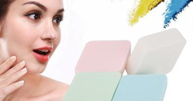 Cosmetic Puff 4Pcs Rhombus Shape Cosmetic Foundation Powder Puff Dry & Wet Puff Sponge Pad Cosmetic Puff Makeup