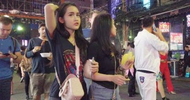 Pattaya Walking Boulevard is Lit On Friday Night