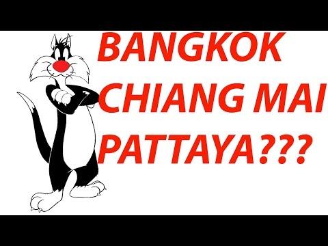 The variation between Bangkok, Chiang Mai, and Pattaya