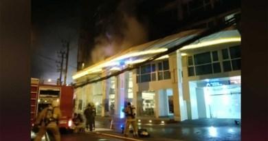 Pattaya Hundreds cruise burning Pattaya hotel