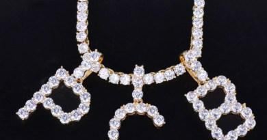 Pendant Jewelry Necklaces Zircon Tennis-Chain Gold Silver-Color Hip-Hop Fashion Men/women