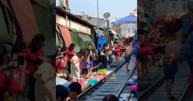 Incredible Railway Market on Thailand Bangkok 2020