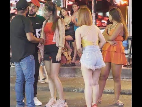 Walking Highway Nightlife Sean Pattaya girls hd