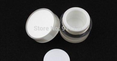 cosmetic 5ml mini plastic jar for nail polish | acrylic cosmetic sample jar wholesale | 5g white small cosmetic jar with lid