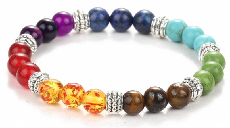 IF ME Fashion 7 Chakra Bracelet Men Black Lava Healing Balance Beads Reiki Buddha Prayer Natural Stone Yoga Bracelet Women Jewel