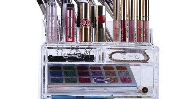 Cosmetics Rack Multifunction Clear Makeup Organizer Shelf Storage Box for Cosmetics Brushes Tabletop Cosmetic Storage Stand Hold